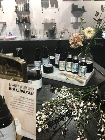 Love Absolute and other natural skincare at the Wolf & Badger Beauty Weekend