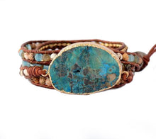 Load image into Gallery viewer, Ocean Jasper Stone Bracelet with Healing Powers