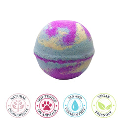 Unicorn swirl large bath bomb
