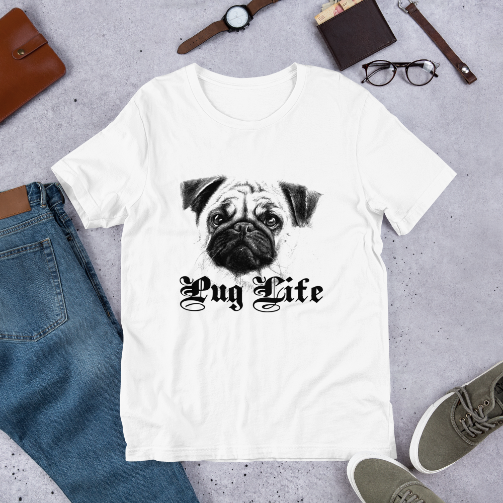Pug Life - Round Neck T-Shirt For Men - TheSixtyNine