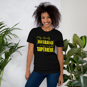SuperHero Husband - Round Neck T-Shirt - TheSixtyNine
