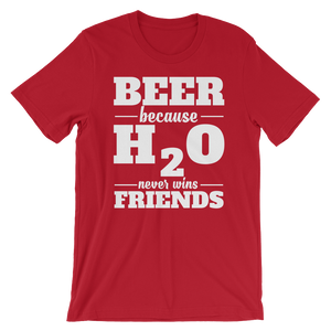 Beer vs H2O - Round Neck T-Shirt For Men - TheSixtyNine