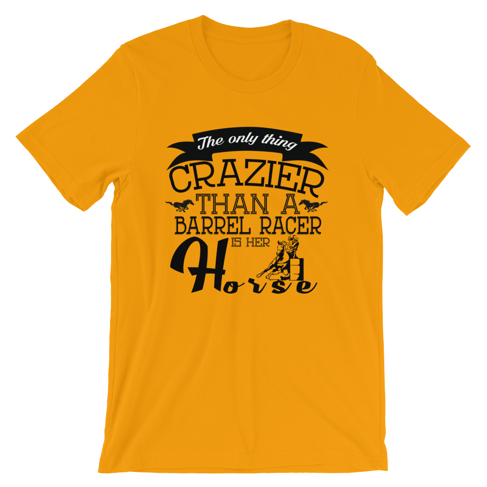 Crazy Barrel-Racer - Round Neck T-Shirt - TheSixtyNine
