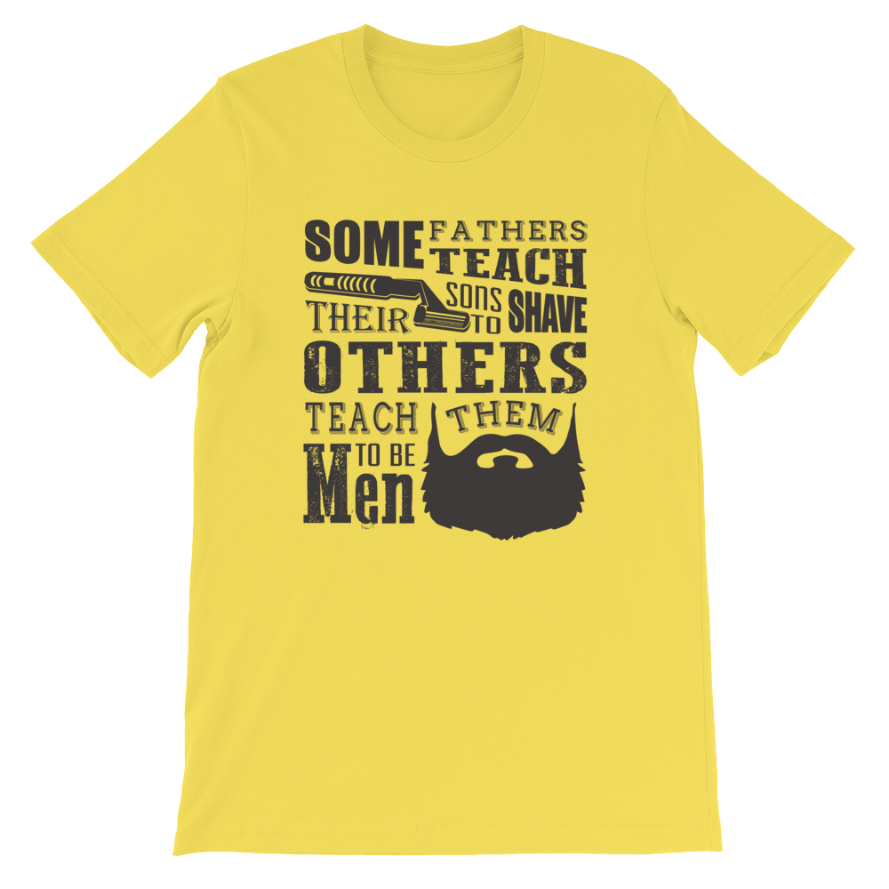 Fathers teaching Sons - Round Neck T-Shirt For Men - TheSixtyNine