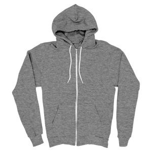 Gray - Zipper Hoodie - TheSixtyNine
