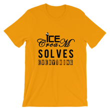 Ice-Cream solves everything - Round Neck T-Shirt For Men - TheSixtyNine