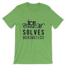 Ice-Cream solves everything - Round Neck T-Shirt - TheSixtyNine