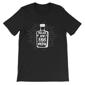 Relax & Drink - Round Neck T-Shirt For Men - TheSixtyNine