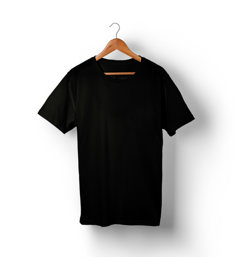 Black - Solid Half-Sleeves T-Shirt - TheSixtyNine