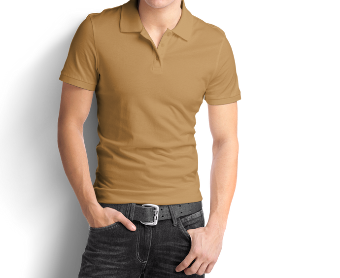 Beige - Polo T-Shirt - TheSixtyNine