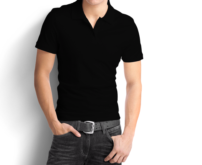 Black- Polo T-Shirt - TheSixtyNine
