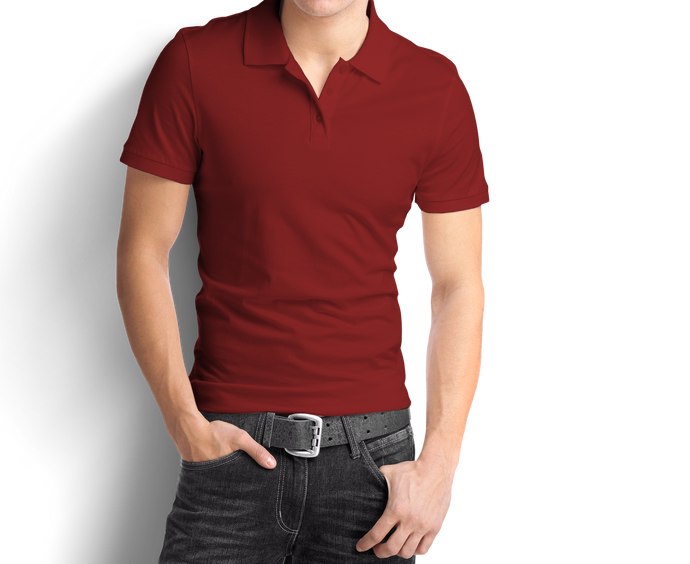 Burgundy - Polo T-Shirt - TheSixtyNine