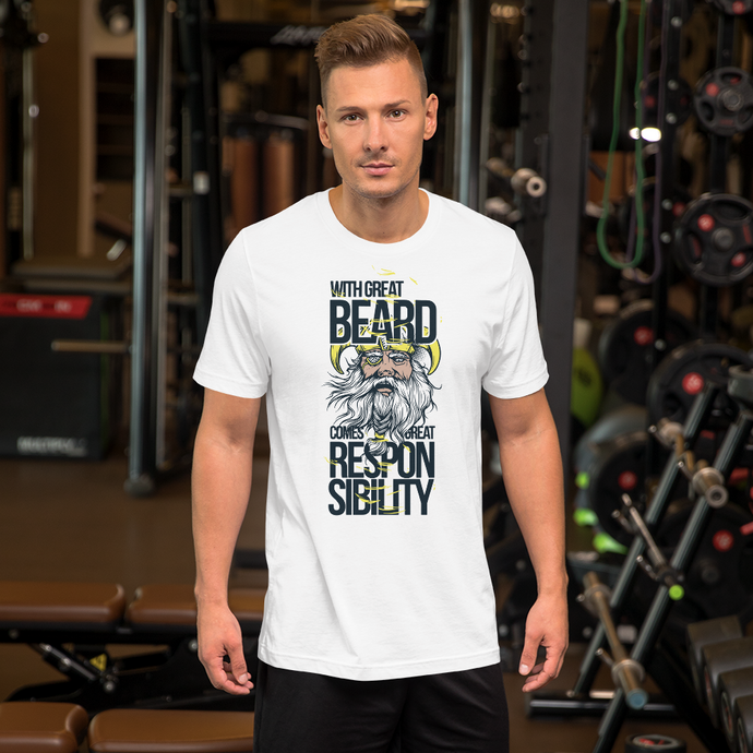 Beard Responsibility - Round Neck T-Shirt For Men - TheSixtyNine