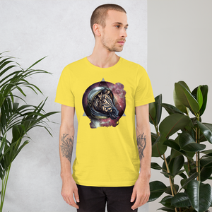 Space Zebra  - Round Neck T-Shirt For Men - TheSixtyNine