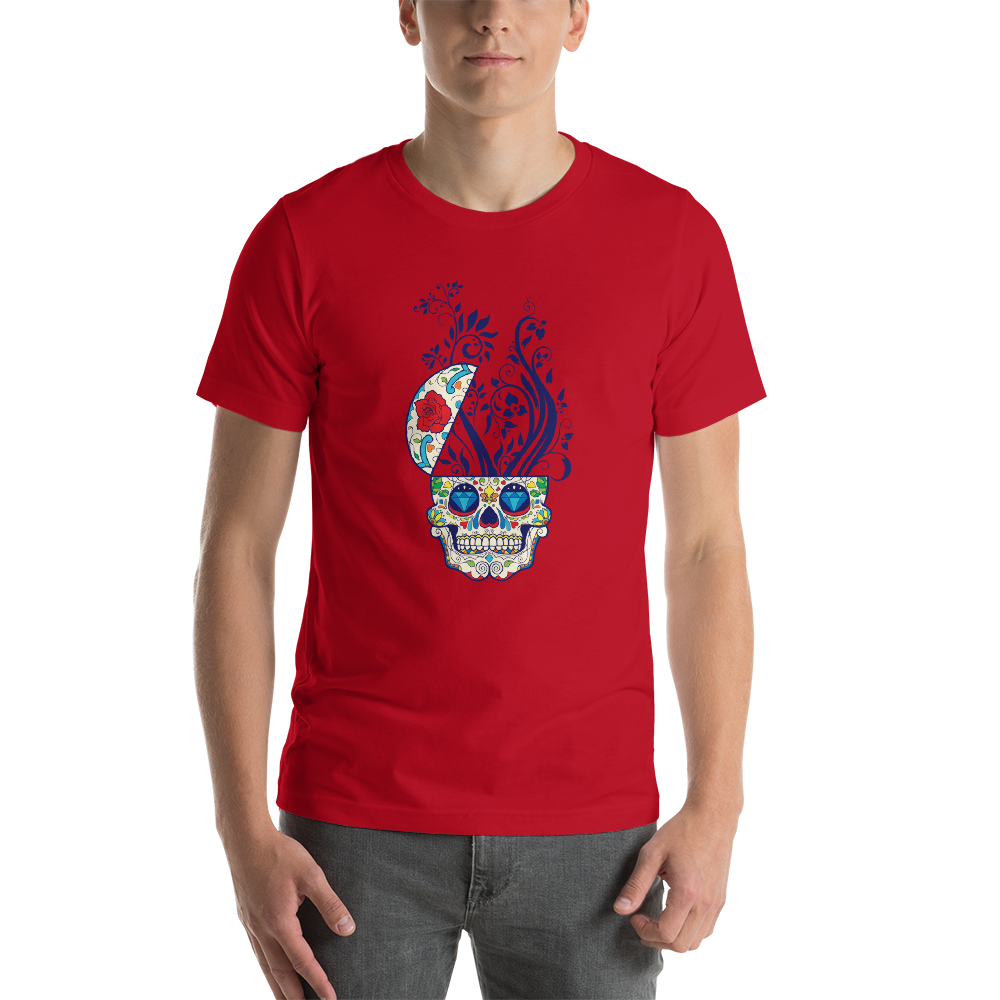 Skull Plant - Round Neck T-Shirt For Men - TheSixtyNine