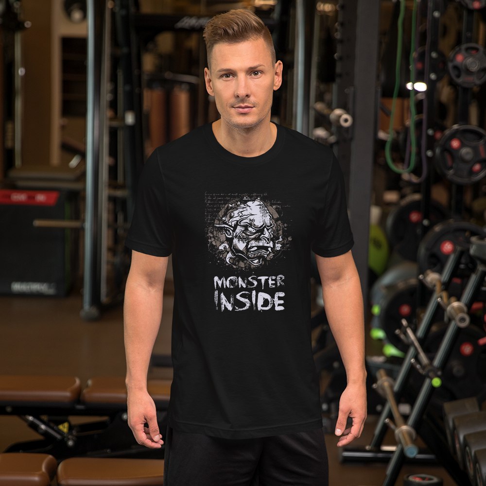 Monster Inside - Round Neck T-Shirt For Men - TheSixtyNine