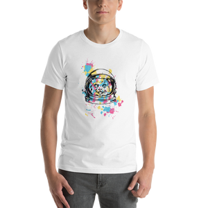 Colourful Space Cat  - Round Neck T-Shirt For Men - TheSixtyNine