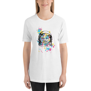Colourful Space Cat  - Round Neck T-Shirt - TheSixtyNine