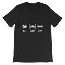 Eat Sleep Gym - Round Neck T-Shirt - TheSixtyNine
