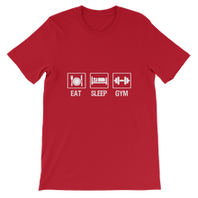 Eat Sleep Gym - Round Neck T-Shirt For Men - TheSixtyNine