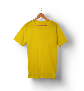 Golden Yellow - Solid Half-Sleeves T-Shirt - TheSixtyNine