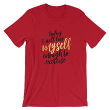 Love myself to Exercise - Round Neck T-Shirt For Men - TheSixtyNine