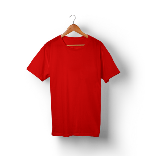 Red - Solid Half-Sleeves T-Shirt - TheSixtyNine