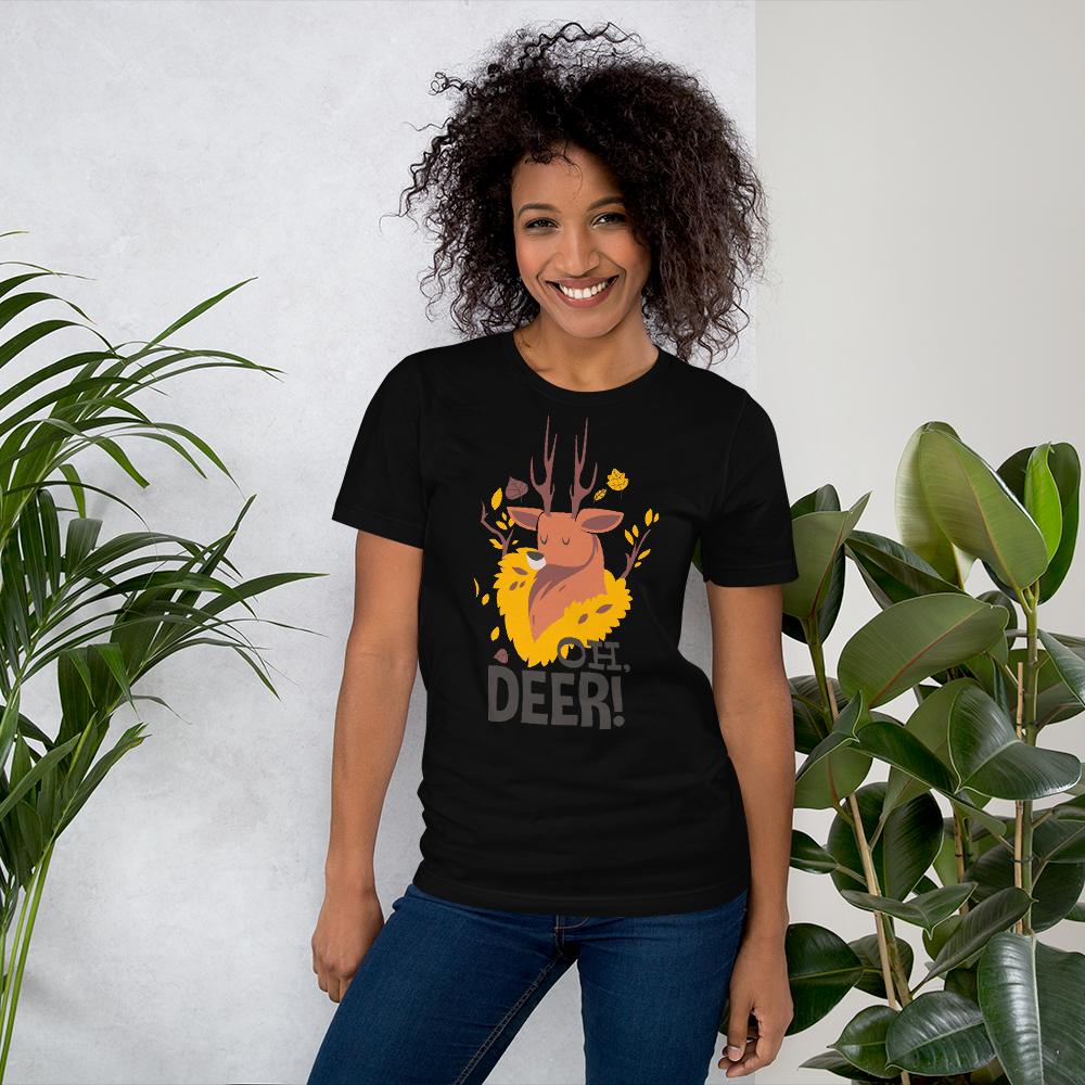 OH! Deer  - Round Neck T-Shirt - TheSixtyNine
