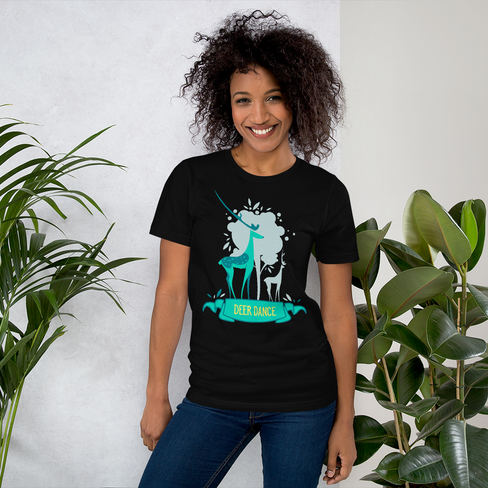 Deer Dance  - Round Neck T-Shirt - TheSixtyNine