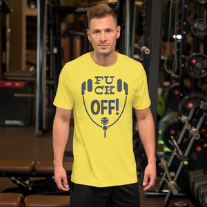 Fuck Off HeadPhone - Round Neck T-Shirt For Men - TheSixtyNine