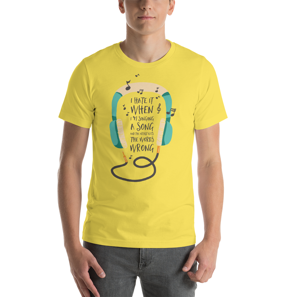 Wrong Lyrics- Round Neck T-Shirt For Men - TheSixtyNine