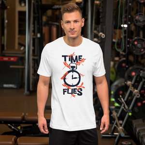Time Flies - Round Neck T-Shirt For Men - TheSixtyNine