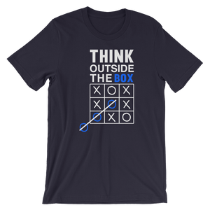 Think out of Box - Round Neck T-Shirt For Men - TheSixtyNine