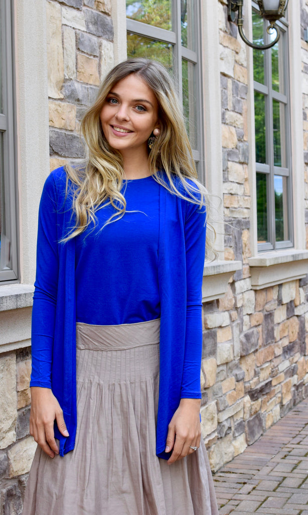 Cardigan Top Cobalt