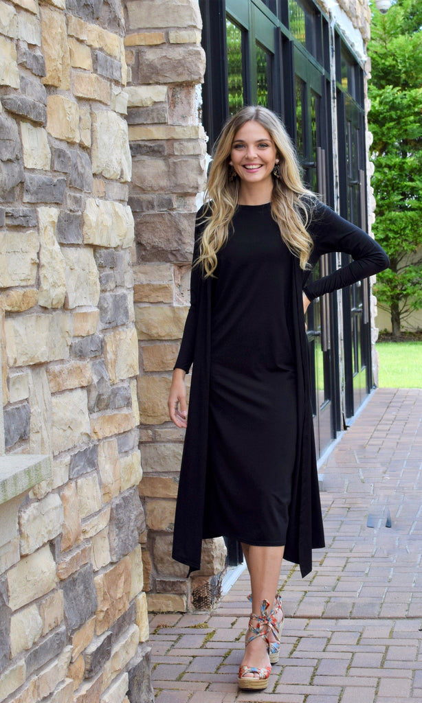 Cardigan Dress Black