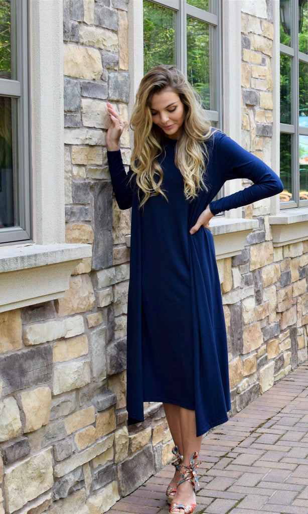 Cardigan Dress Navy