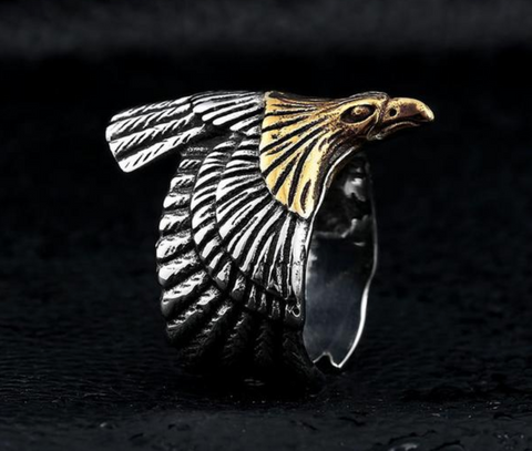 UNIQUE STAINLESS EAGLE RING
