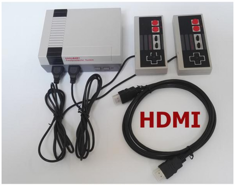 CLASSIC FAMILY COMPUTER GAME SYSTEM HDMI HD 2/4 Buttons (600 GAMES!)
