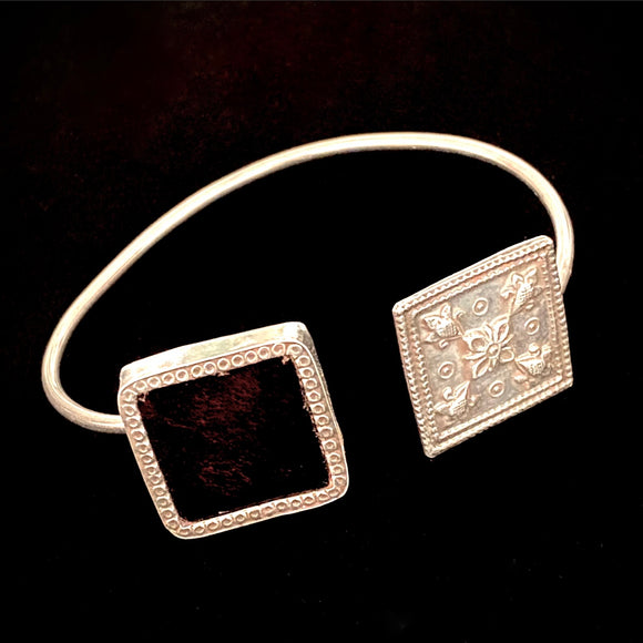 Carved Coloured Squared Cuff