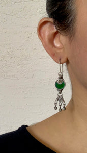 Sheesha earring green drops