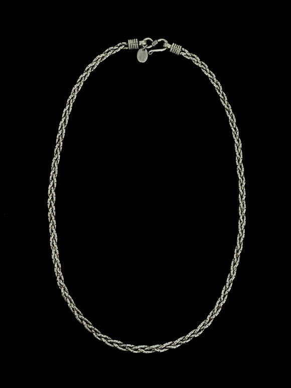 Silver Thin Braided Chain
