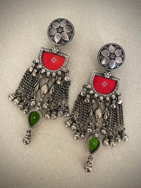 Tribal Semi Red Green Drops