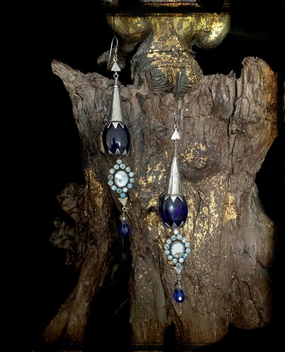 Sheesha Earring blue Long drops