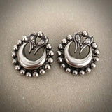 Tribal peacock studs