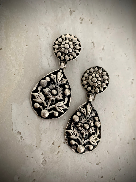 Tribal floral teardrops