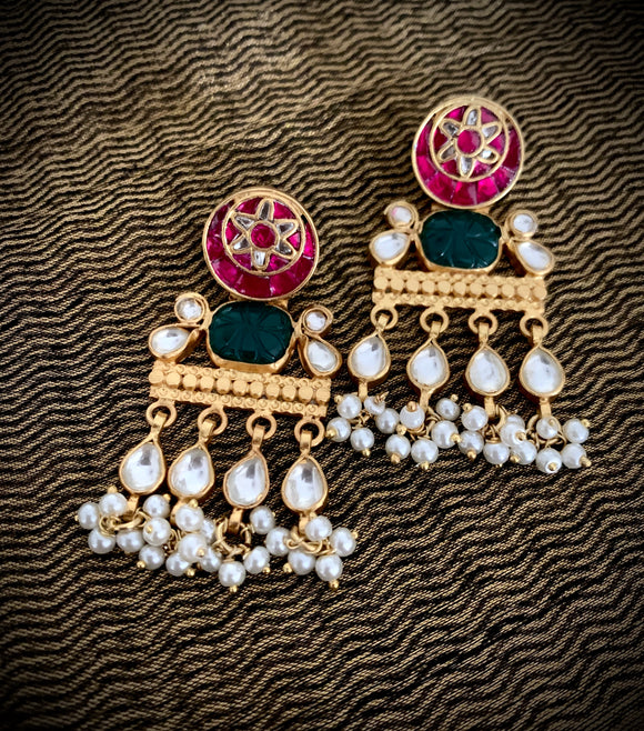 Opulent gold Chand drops