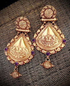 Opulent Gold Temple teardrops