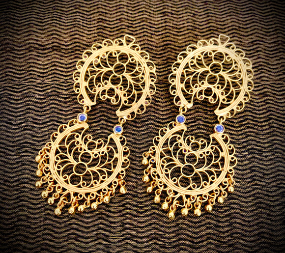 Opulent gold lotus jali drops