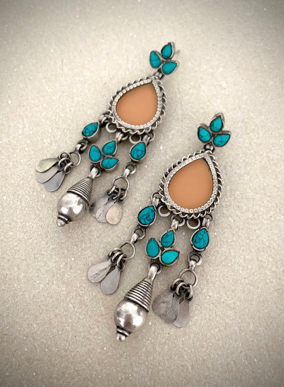 Trendy turquoise tear drops