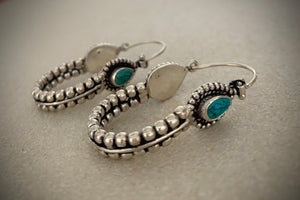 Trendy turquoise hoops